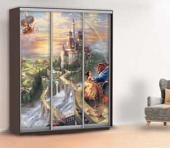 Наклейка в детскую на шкаф, двери, стены 240 х 150 см с защитной ламинацией