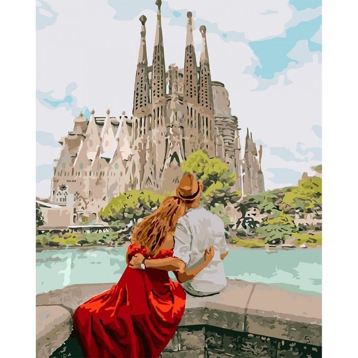 """Картина по номерам. """"Романтическая Испания"""" 40*50см KHO4689"""