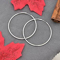 Серебряные серьги кольца П2003 размер 44х1 мм вес 2.58 г
