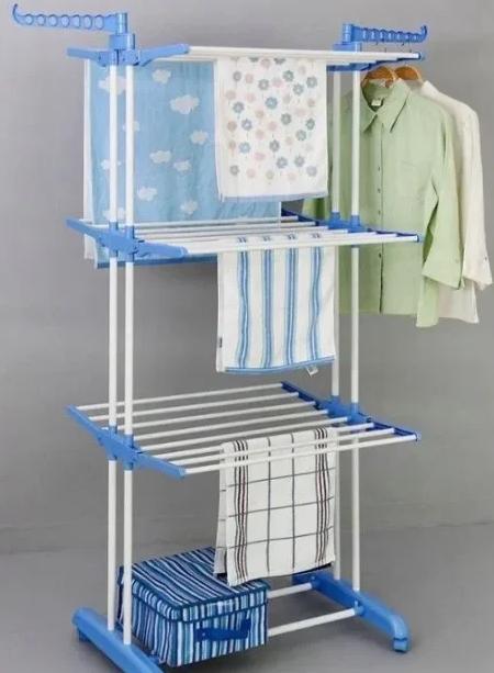 Сушилка для белья Garment rack with wheels   Универсальная складная напольная сушилка для одежды