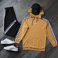 Спортивный костюм мужской черный с оранжевым худи сезон весна/лето (весенний) в стиле Adidas (Адидас)