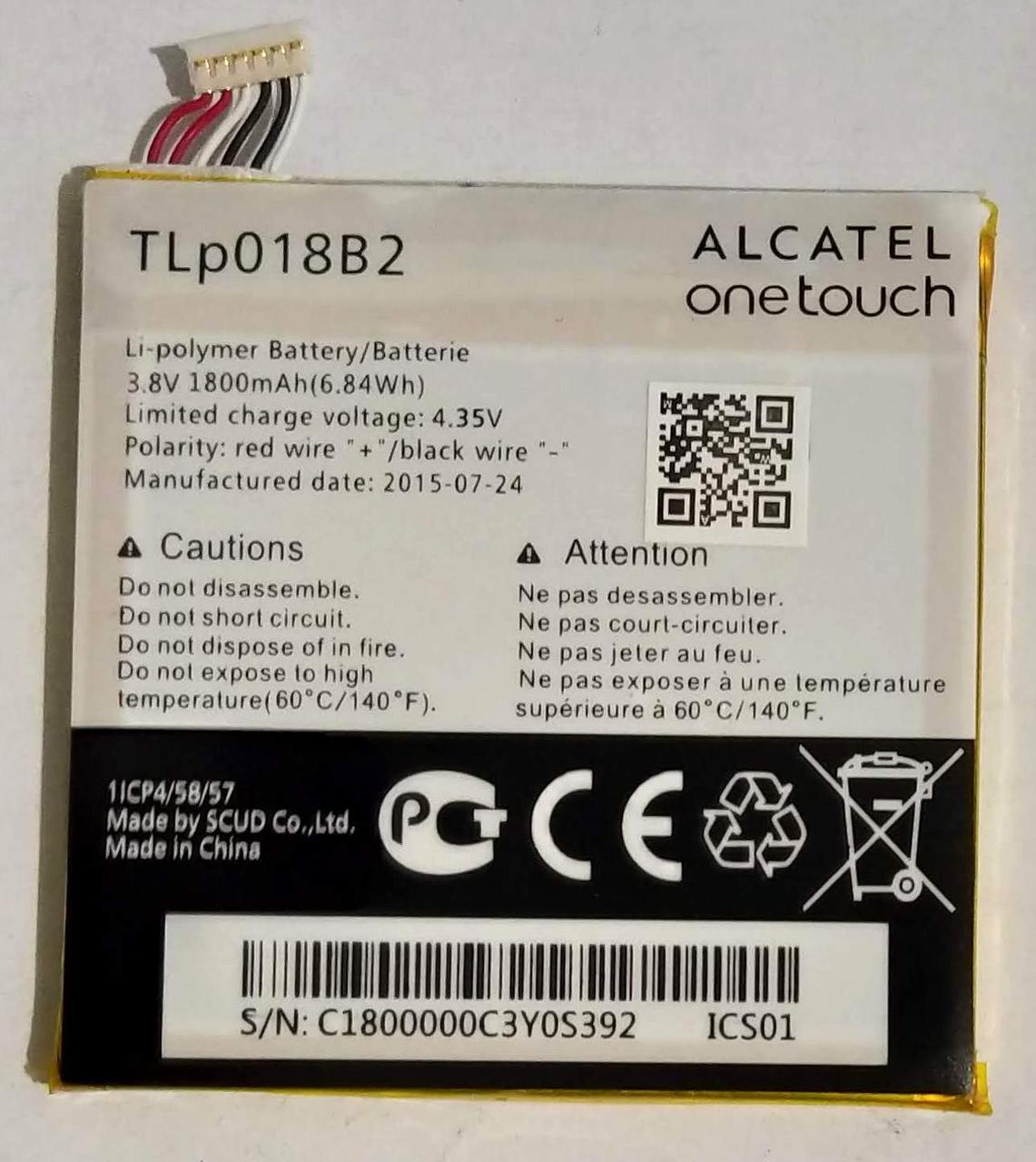 "Акумулятор ""Original"" для Alcatel Y910/TIP034B2 1800mAh"