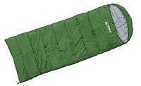 Terra Incognita Спальник Asleep 200 (L) (зелён) - Одеяло с капюшоном для походов и пикников (весна,лето,осень)