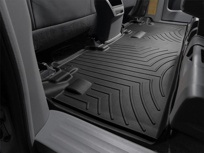 Ковры резиновые WeatherTech Toyota Sienna 2010+ задний черный (8-ми местная )