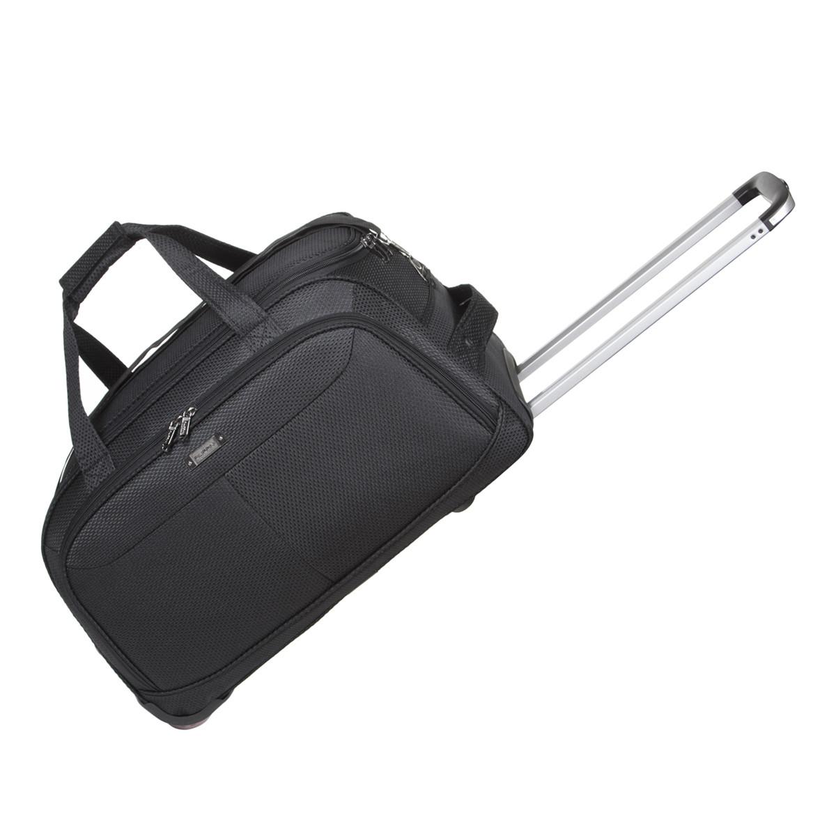 Дорожная сумка FILIPPINI  малая, три колеса, выдвижная ручка 57х30х35 чёрный цвет ксТ0045чм