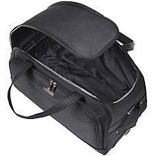 Дорожная сумка FILIPPINI  малая, три колеса, выдвижная ручка 57х30х35 чёрный цвет ксТ0045чм, фото 3