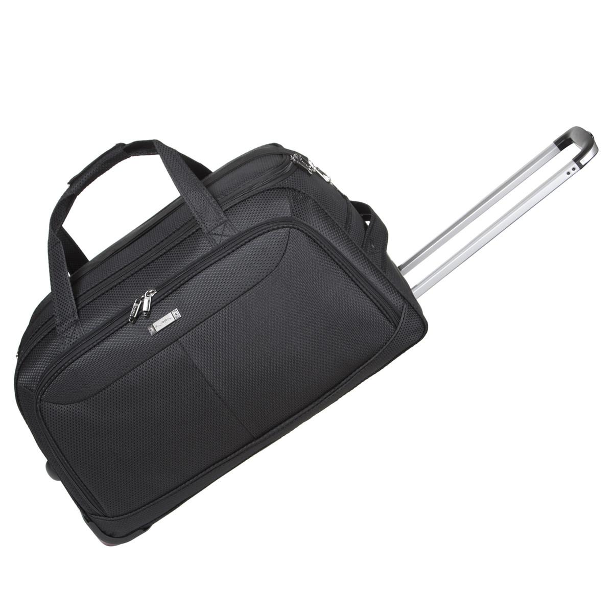 Дорожная сумка средняя FILIPPINI три колеса 62х33х38  выдвижная ручка  черный цвет   ксТ0045чср