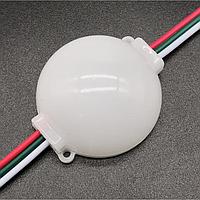 Светодиодный модуль FRGB 3LED SMD5050 IC2811 IP65 круглый с линзой | адресуемый