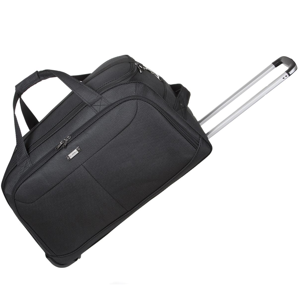 Дорожная сумка FILIPPINI большая три колеса 67х38х43 выдвижная ручка чёрный цвет ксТ0045чб