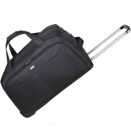 Дорожня сумка FILIPPINI велика три колеса 67х38х43 висувна ручка чорний колір ксТ0045чб, фото 2