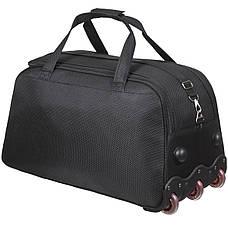 Дорожня сумка FILIPPINI велика три колеса 67х38х43 висувна ручка чорний колір ксТ0045чб, фото 3
