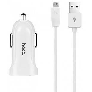 Автомобильное зарядное устройство Hoco Z2 1 USB 1.5A + Lightning cable