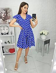 Платье горох в расцветках 15285А