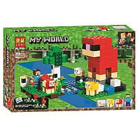 "Конструктор Bela 11361 ""Шерстяная ферма"" (аналог Lego Майнкрафт, Minecraft 21153), 266 деталей, фото 1"