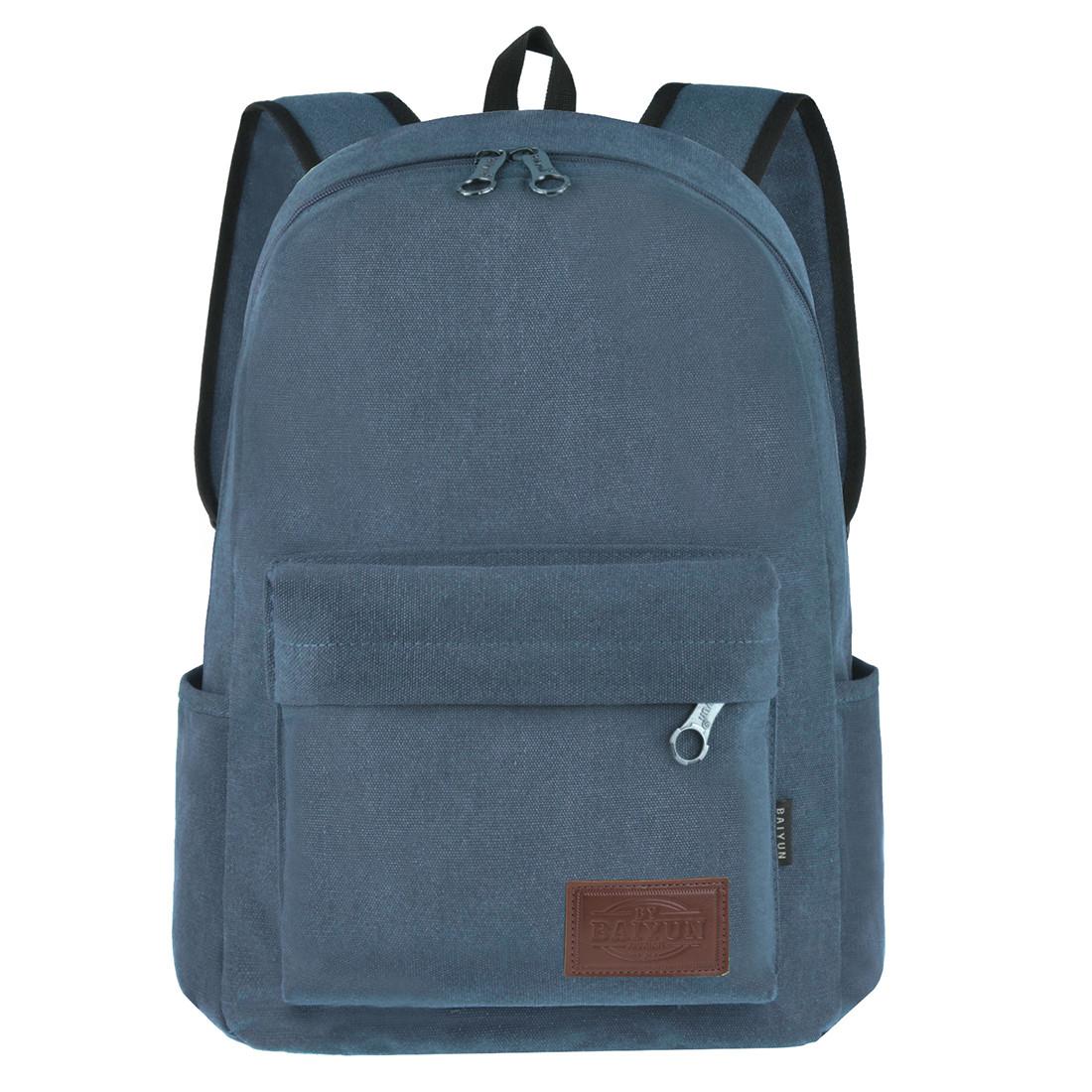 Рюкзак молодёжный BAIYUN 43х30x16 брезент  ксВУ738-6син