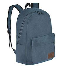 Рюкзак молодёжный BAIYUN 43х30x16 брезент  ксВУ738-6син, фото 2