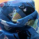 Женский стильный платок - синий пастельный, фото 3