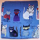 Женский стильный платок - синий пастельный, фото 2