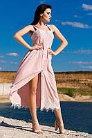 """Шикарний жіночний, романтичний сарафан """"Даяна"""", рожевий"""
