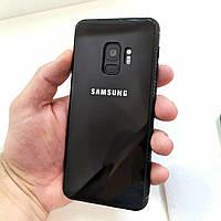 Оригинальный чехол Samsung galaxy s8, s9 Со вставкой из натурального стекла