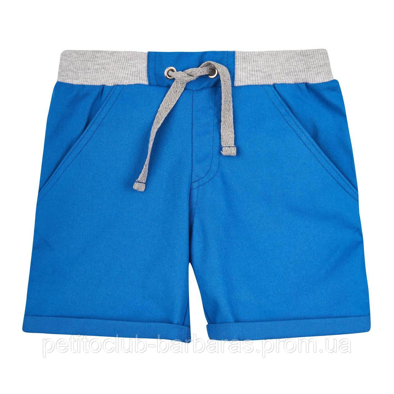 Детские летние хлопковые шорты для мальчика синие (р.122-140 см) (KIT-Lime, Украина)