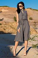 """Легке літнє жіноче плаття в горошок """"Алана"""", лапка дрібна"""