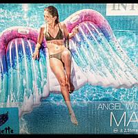 Шикарный огромный   надувной матрац крылья Ангела