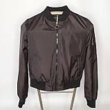 Легка молодіжна куртка куртка-бомбер з плащової тканини жіноча модна від виробника, фото 5
