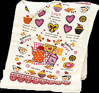 Кухонные полотенца велюр/махра 40х60 (12шт) 380м/2 Турция, фото 1