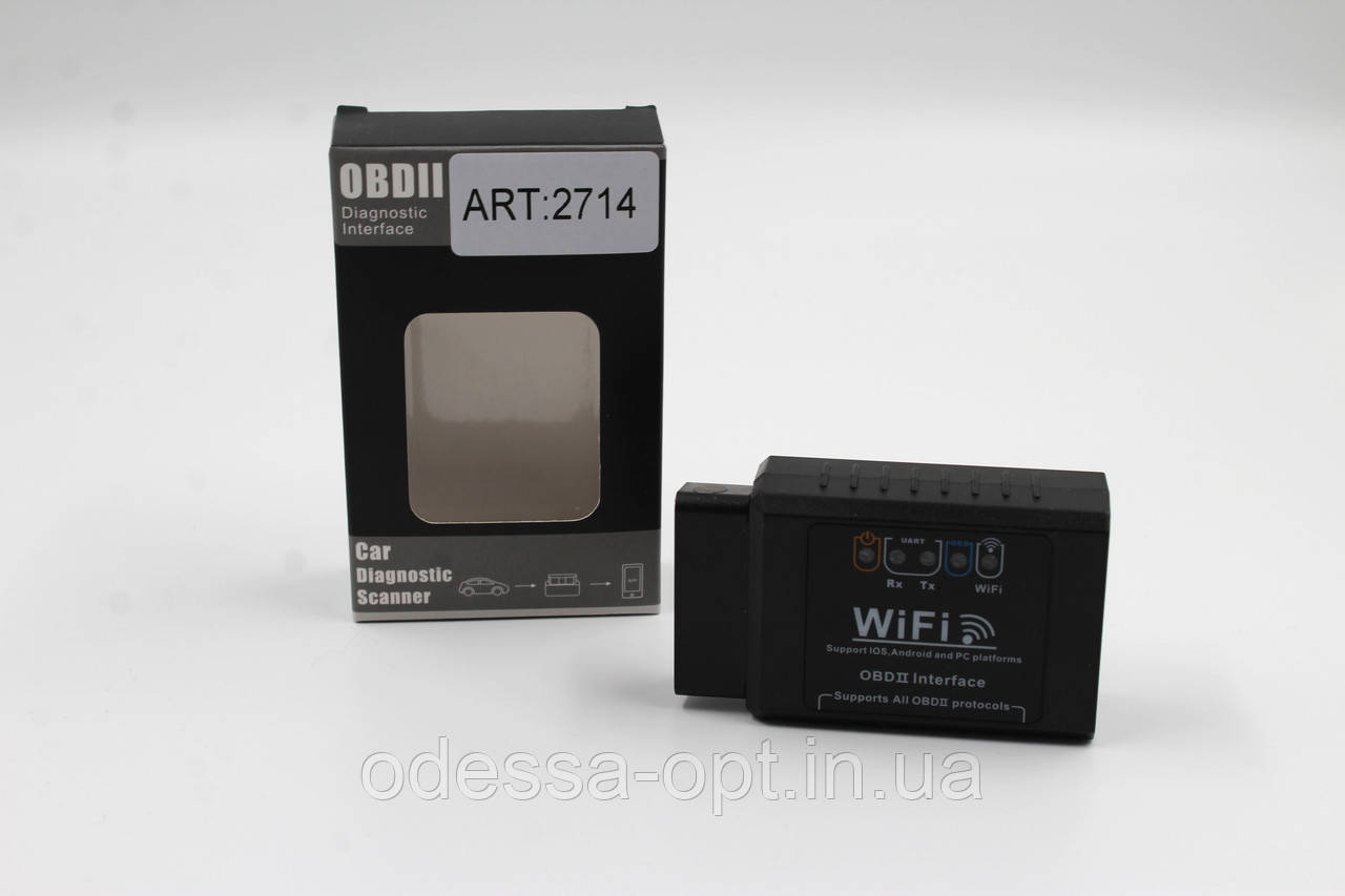 Адаптер для диагностики автомобиля OBD2 ELM327 WI-FI 2714
