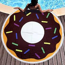 Кругле пляжний рушник Пончик-2 (150 див.)
