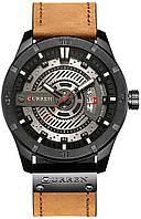 Наручные часы мужские Curren Turbo кварцевые стильные с кожаным ремешком часы curren