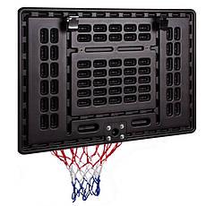 Щит баскетбольный с кольцом и сеткой S009F (щит-HDPE,р-р 80x58см, кольцо (16мм) d-38см, сетка NY), фото 3