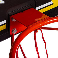 Щит баскетбольный с кольцом и сеткой S009F (щит-HDPE,р-р 80x58см, кольцо (16мм) d-38см, сетка NY), фото 2