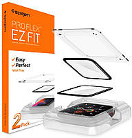 Защитное стекло spigen для Apple Watch 4/5/6/SE (44mm) EZ FiT, Pro Flex (в упаковке 2шт), (AFL00922), фото 1