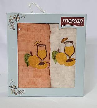 Набор вафельных полотенец 2шт 03 Бокал