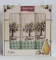 Набор вафельных полотенец 3шт 01 Olive