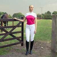 Бриджи для конного спорта Белые Horze B Vertigo