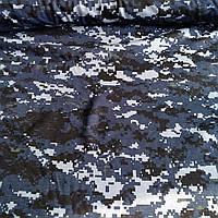 """Кулір принт """"Камуфляж пікселі темно-синій"""" - 180см. (ротація), фото 1"""