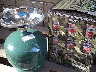 Туристичний газовий балон-пікнік з пальником об'ємом 5 літрів Rudyy