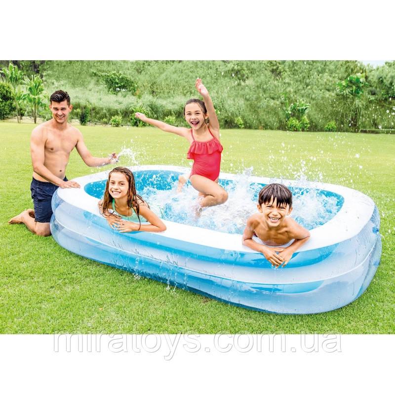 ✅Семейный надувной бассейн Intex 56483 262х175х56см