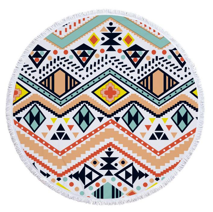 Пляжный коврик из микрофибры Зигзаги