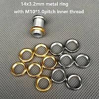 Декоративная гайка-кольцо (м-10) (некрашеное) (Chrome) (Gold) (Black)  [ КОЛЬЦО ПЛОСКОЕ ГЛАДКОЕ ], фото 1