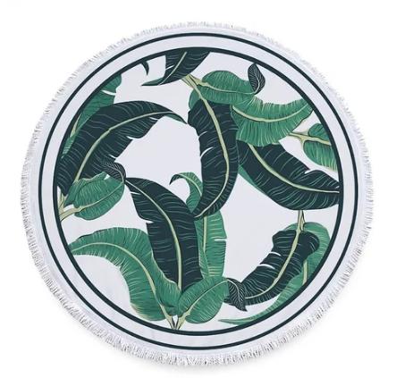 Пляжный коврик из микрофибры Банановые листья