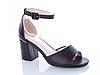 Женские бежевые босоножки на каблуке Еко-Кожа открытый носок с закрытой пяткой, фото 6