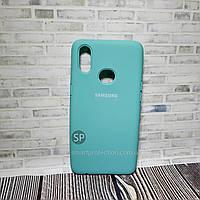 Чехол накладка для Samsung A10S синий океан  Original Full Cover
