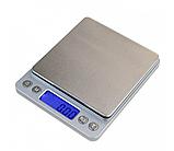 Высокоточные профессиональные ювелирные электронные весы 0,01-500 грамм с 2-мя чашами, фото 2