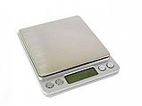 Высокоточные профессиональные ювелирные электронные весы 0,01-500 грамм с 2-мя чашами, фото 3