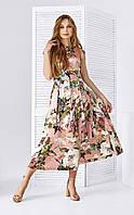 Летнее платье с отрезной юбкой в цветочный принт Style-Nika Шалини