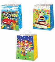 Детские подарочные пакеты СРЕДНИЕ 17х26х8 см - П5-23